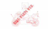 Plate set for Aprilia RS 50 1996