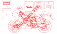 Op.'s handbooks and decal for Aprilia RS 1999