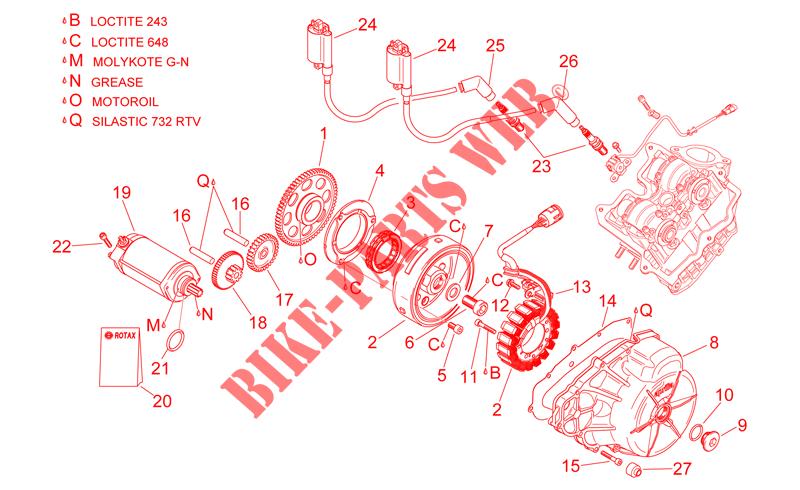 aprilia aprilia-motorcycles 1000 rsv 1998 rsv engine ignition unit