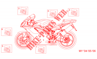 Decal My 04 05 06 for Aprilia RSV 2005