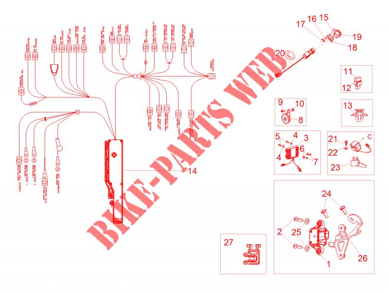 front electrical system for aprilia rsv4 racing factory l. Black Bedroom Furniture Sets. Home Design Ideas