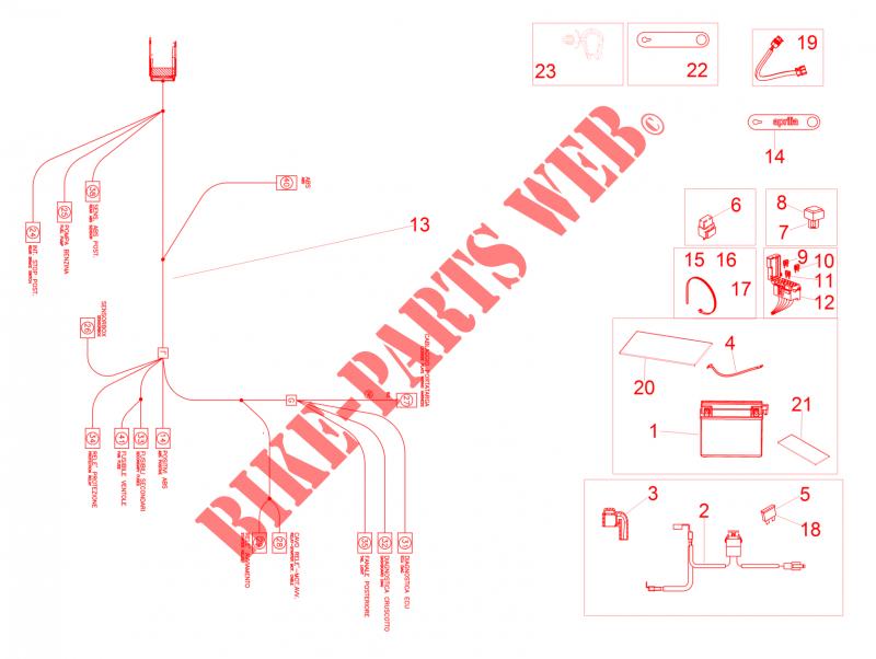 rear electrical system for aprilia 1000 rsv4 2017. Black Bedroom Furniture Sets. Home Design Ideas