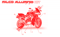 Acc.   Special body parts for Aprilia SL Falco 2001