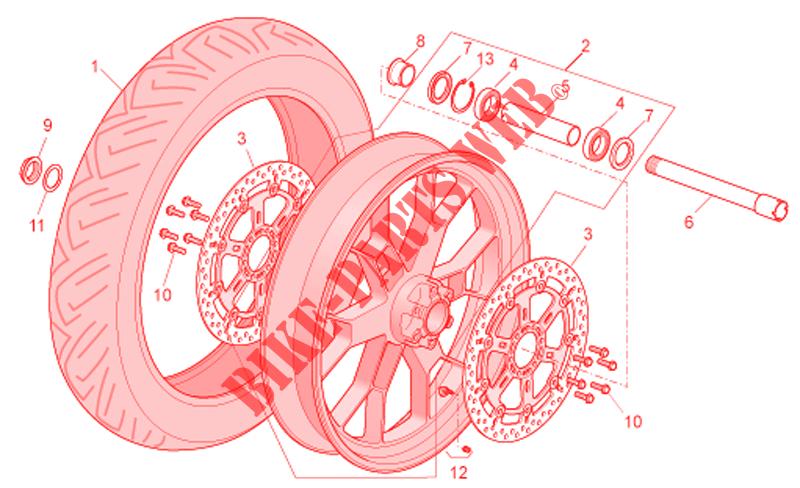 front wheel factory for aprilia 1000 tuono 2007 aprilia. Black Bedroom Furniture Sets. Home Design Ideas