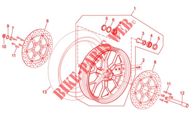 front wheel r version for aprilia rsv tuono 2007 aprilia. Black Bedroom Furniture Sets. Home Design Ideas