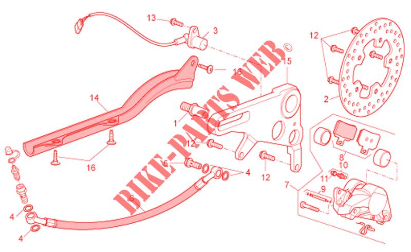 rear brake caliper for aprilia rsv tuono 2007 aprilia. Black Bedroom Furniture Sets. Home Design Ideas